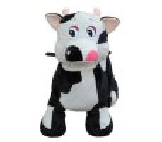 Фото зоомобиля Joy Automatic Коровка с монетоприемником мвид спереди
