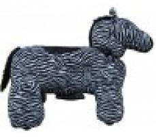 Фото зоомобиля Joy Automatic Зебра с монетоприемником вид справа