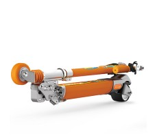 фото электросамоката Airwheel Z8 Orange в сложеном виде