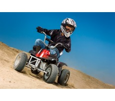 Фото электроквадроцикла Razor Dirt Quad в движении