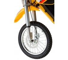 Фото переднего колеса электробайка Razor MX650 Yellow