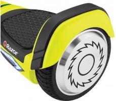 Гироскутер Razor Hovertrax 2.0 Green вид сверху сбоку на колесо гироскутера и педаль
