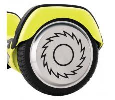 Гироскутер Razor Hovertrax 2.0 Green вид сбоку на алюминевое мотор колесо с логотипом рэйзор