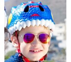 фото шлема Crazy Safety Blue Dragon 2017 на голове у мальчика спереди