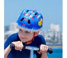 фото шлема Crazy Safety Blue Dragon 2017на голове у мальчика сверху