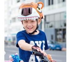 фото шлема Crazy Safety Orange Tiger 2017 на голове у мальчика сбоку