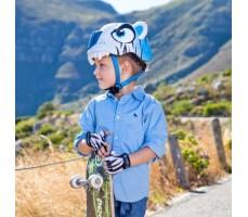 фото шлема Crazy Safety White Tiger 2017  на голове у мальчика сбоку