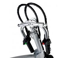 Фото сложенного руля колеса электровелосипеда Volteco Shrinker II Red