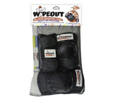 Комплект защиты Wipeout Black (M 5+) 3 в 1