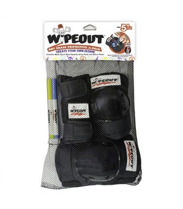 Комплект защиты Wipeout Black (M 5+) 3 в 1 | Купить, цена, отзывы