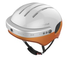 фото шлема с камерой Airwheel C5 White&Orange