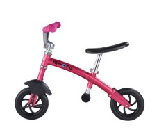 фото беговела Micro G-Bike Chopper Deluxe Pink вид сбоку
