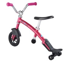 фото беговела Micro G-Bike Chopper Deluxe Pink вид сзади