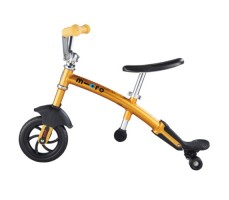 фото беговела Micro G-Bike Chopper Deluxe Yellow вид сбоку