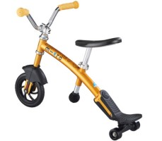 фото беговела Micro G-Bike Chopper Deluxe Yellow вид сзади