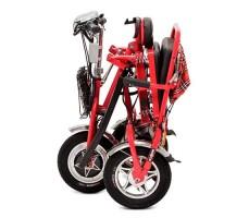 Электротрицикл Osota Adjutant Red в складном виде