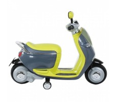 Электроскутер MINI SCOOTER W388 Yellow вид сбоку