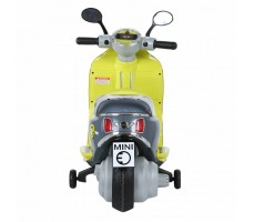 Электроскутер MINI SCOOTER W388 Yellow вид сзади