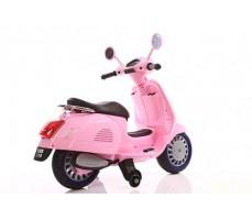 фото Детский электроскутер TOYLAND Vespa XMX 318 Pink