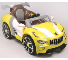 Электромобиль Maserati A 222 AA Leather Yellow