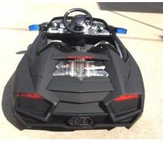 Электромобиль Lambo LS-518 Black вид сзади