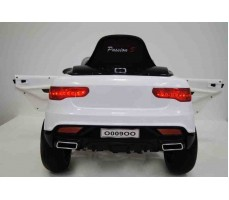 Электромобиль Audi O009OO White вид сзади