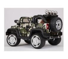 фото электромобиля Barty Jeep Wrangler Khaki сзади