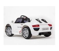 фото электромобиля Barty М002Р Porsche 918 Spyder White сзади