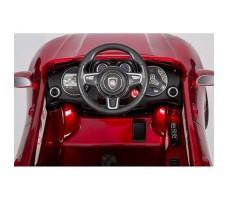 фото руля и передней панели электромобиля Barty М003МР Porsche Macan Red