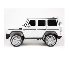 фото электромобиля Barty Mercedes-Benz G65 AMG 12V/10Ah Tuning White сбоку