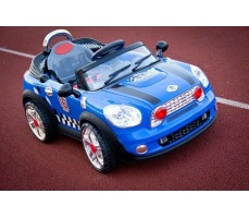 Фото электромобиля Joy Joy Automatic 118 Mini Cooper Blue вид сверху