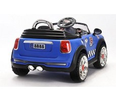 Фото электромобиля Joy Joy Automatic 118 Mini Cooper Blue вид сзади