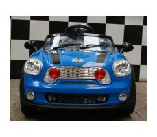 Фото электромобиля Joy Joy Automatic 118 Mini Cooper Blue вид спереди