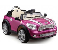 Фото электромобиля Joy Joy Automatic 118 Mini Cooper Pink вид сбоку