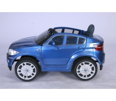 Фото электромобиля Joy Automatic BMW JJ 258 Х6 Blue вид сбоку