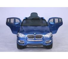 Фото электромобиля Joy Automatic BMW JJ 258 Х6 Blue с открытыми дверьми
