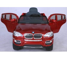 Фото электромобиля Joy Automatic BMW JJ 258 Х6 Red с открытыми дверьми