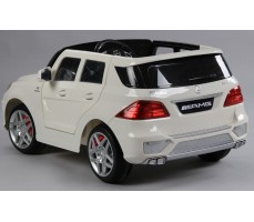 Фото электромобиля Joy Automatic Mercedes Benz ML63 AMG  LUXE White вид сзади