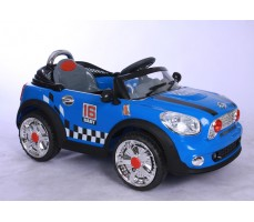 Фото электромобиля Joy Joy Automatic 118 Mini Cooper Blue вид сбоку