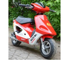 Фото электроскутера Joy Automatic LMOOXR3-Bike 350w Red вид сбоку