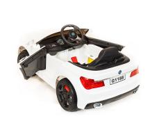 фото Детский электромобиль Toyland BMW 5 G1188 White сзади