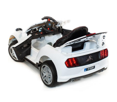 фото Детский электромобиль Toyland Ford Mustang RT560 White сзади