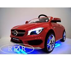 Фото передних светодиодных фар электромобиля Mercedes-Benz CLA45 A777AA Red