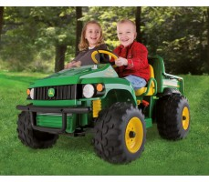 Фото электромобиля Peg-Perego John Deere Gator HPX Green с пассажирами