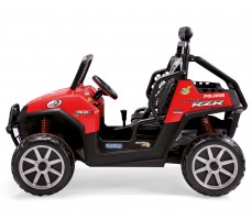 Фото электромобиля Peg-Perego Polaris Ranger RZR Red вид сбоку
