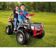 Фото электроквадроцикла Peg-Perego Polaris Sportsman 850 Red с пассажирами