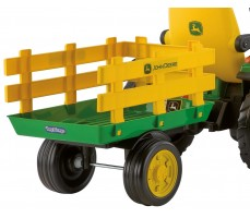 Фото прицепа электромобиля Peg-Perego John Deere Ground Force Green