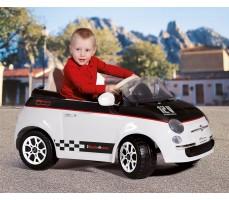 Фото электромобиля Peg-Perego Peg-Perego Fiat 500 White с пассажиром