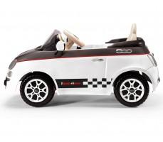 Фото электромобиля Peg-Perego Peg-Perego Fiat 500 White вид сбоку