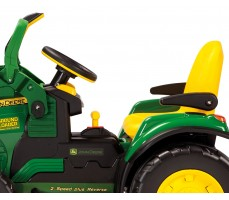 Фото электромобиля Peg-Perego John Deere Ground Loader Green вид сбоку